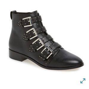 Rebecca Minkoff Blk Leather Maddox Boot Sz 7.5